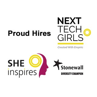 Empiric champions diversity, Proud hires, she inspires gender equality, next tech girls, stonewall diversity champion